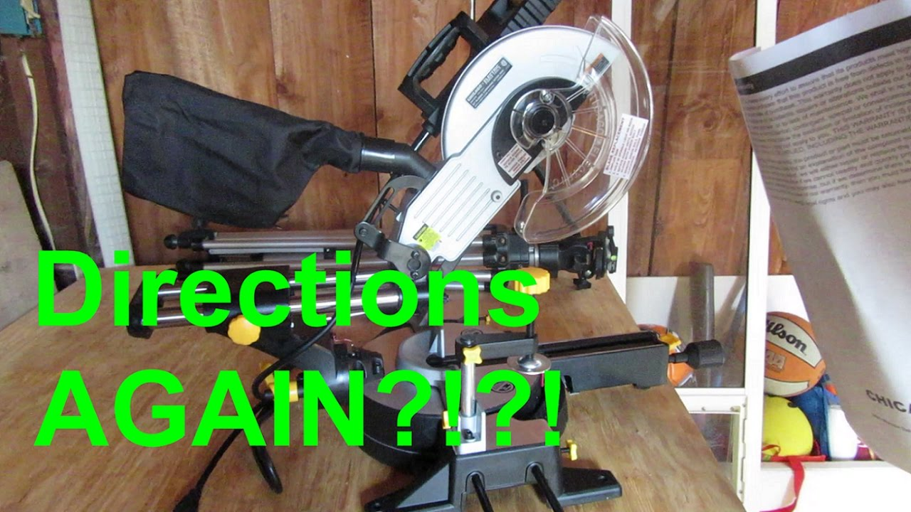Chicago electric 10 sliding compound miter saw walk around chicago electric 10 sliding compound miter saw walk around blade install greentooth Choice Image