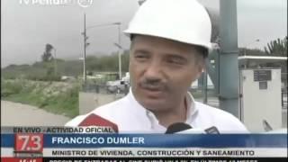 Ministro de Vivienda inspeccionó planta de La Atarjea