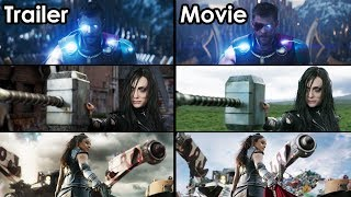 Thor: Ragnarok - Trailer vs Movie Comparison  [4K UHD]
