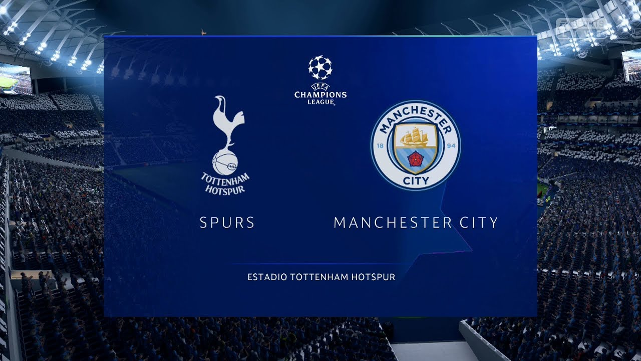TOTTENHAM VS MANCHRSTER CITY | CUARTOS DE FINAL - IDA | UEFA ...