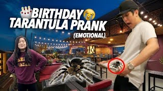 TARANTULA PRANK ON BIRTHDAY!!   Ranz and Niana