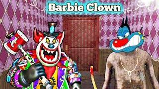 AaajavoooO Bacche | Barbie Clown Scary Horror Game With Oggy and Jack