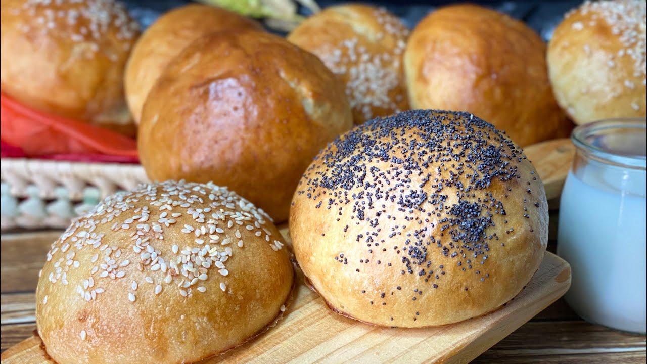 Tiernos panes de hamburguesa 🍔 con 1 sólo yogur