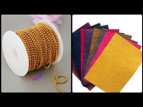 How To Make Designer Earrings At Home | DIY | Beautiful Stud Earrings Making | uppunutihome