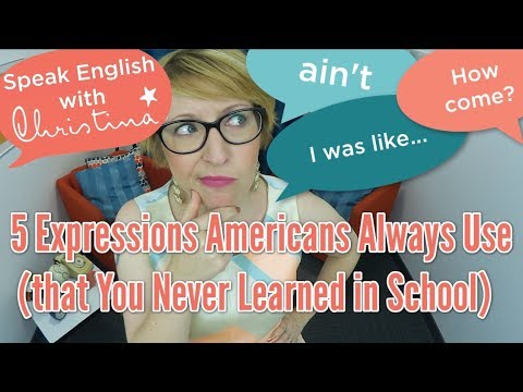 5 English Expressions You Never Learned in School - Learn English Vocabulary
