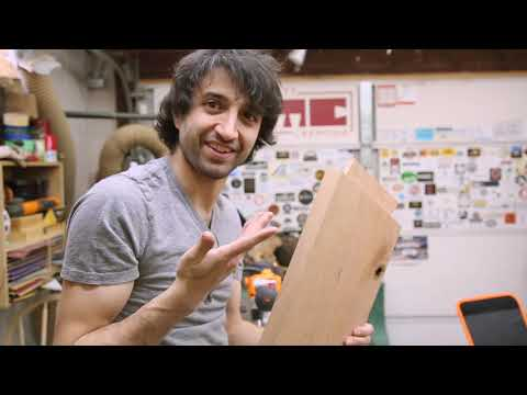 Matt Cremona's New Bedside Table - Angled Through Tenons