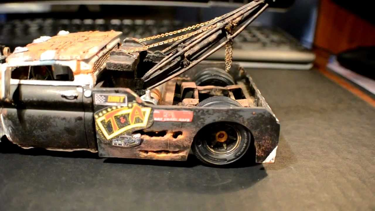 Wrecked Wrecker Rat Rod Tow Truck Model Youtube
