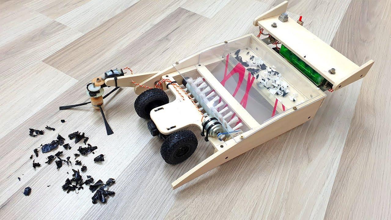 UNA SCOPA RADIOCOMANDATA fai da te ? - Remote Robot Car ...