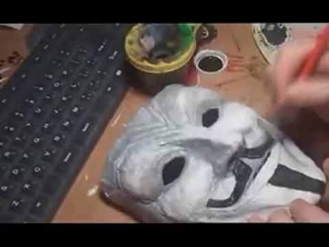 Видео как сделать страшную маску своими руками