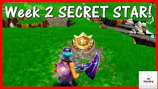 Season 10 Week 2 SECRET Battle Star Location! (Shootout At Sundown) | Fortnite