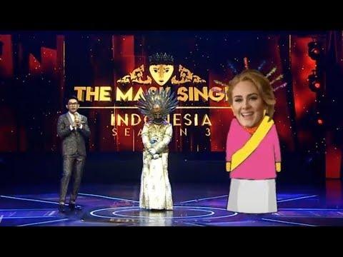 Melengking! Putri Malu Nyanyi 'Never Enough' Mirip Adele? | The Mask Singer S3 Eps. 7 (1/6)