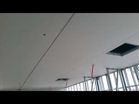 Gyprock fixing, metal frame, mining housing and offices , ceiling expansion joint