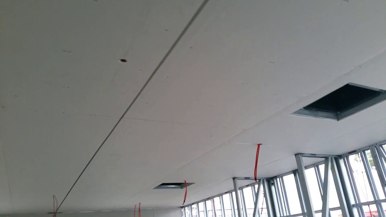 Gyprock fixing, metal frame, mining housing and offices , ceiling ...