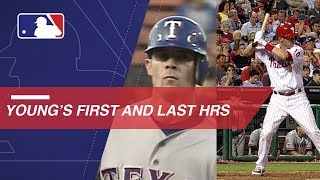 A look at Michael Young's first and last MLB home run