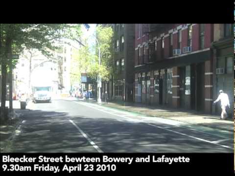 Bleecker Street New York City 9.30am