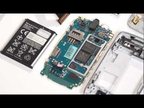 Sony Ericsson txt Pro - как разобрать телефон и его обзор