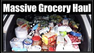 Pandemic Grocery Haul - Once-A-Month Shopping - LARGE Family