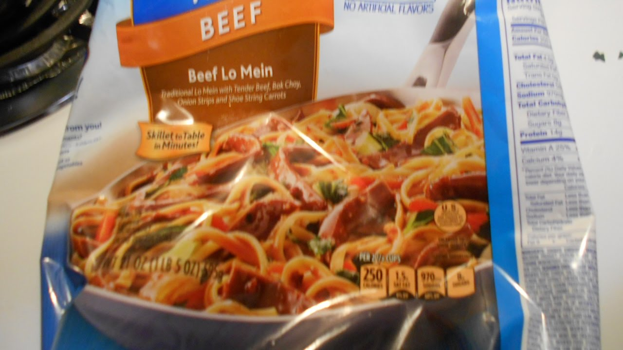 Review Of Birds Eye Voila Beef Lo Mein Youtube