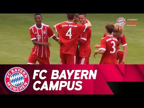 First match at the FC Bayern Campus ⚽