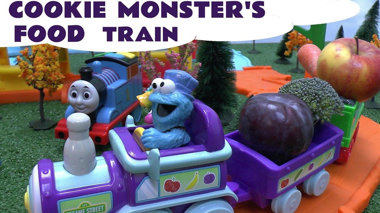 Sesame Street Cookie Monster Food Train Engines Elmo Thomas the