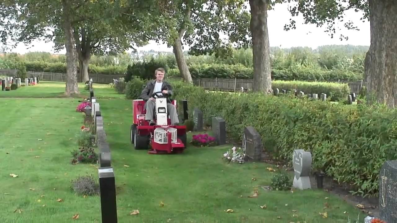 Lawn Mower Tractor >> One Tractor Cemetery Maintenance Solution - YouTube
