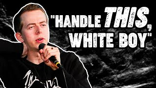 White Rapper challenged to Freestyle about Racism