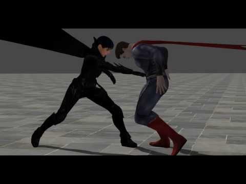 Superman fights Faora