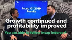 Growth continued and profitability improved  - Incap Q1'2019 results