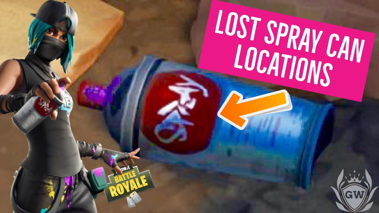 find lost spray cand