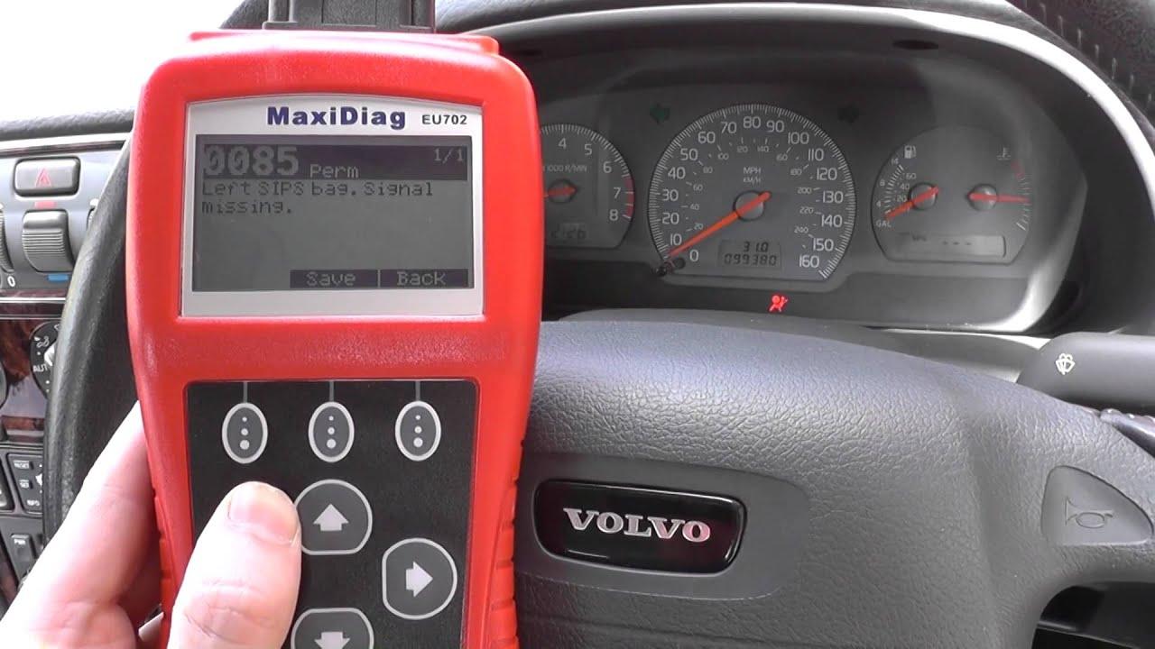 Volvo s40 airbag light reset