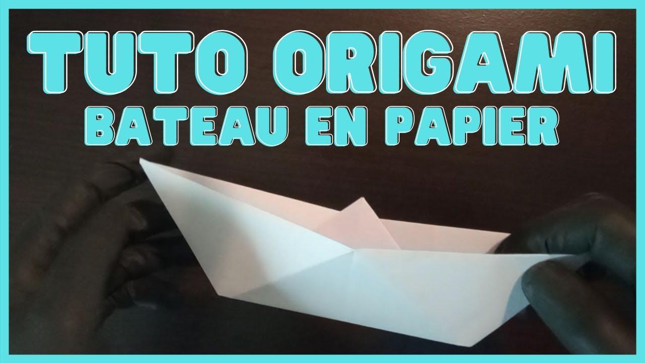 Tuto Bateau En Papier Origami Facile Origami Paper Boat Youtube