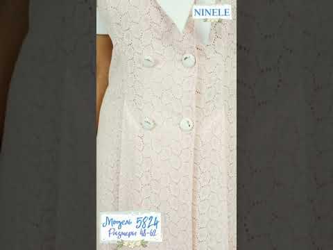 #наряднаяодежда#большойразмер#NINELE5824 Летнее хлопковое платье большого размера.