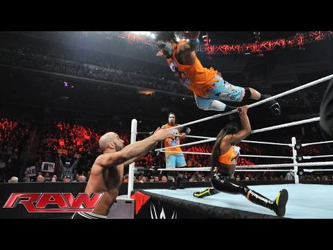 The Usos & Naomi vs. Cesaro, Tyson Kidd & Natalya: Raw, March 2, 2015