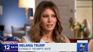 Melania Trump Condemns Her Husband's Sexual Assault Accusers