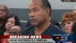 O.J. Sentenced To 33 Years