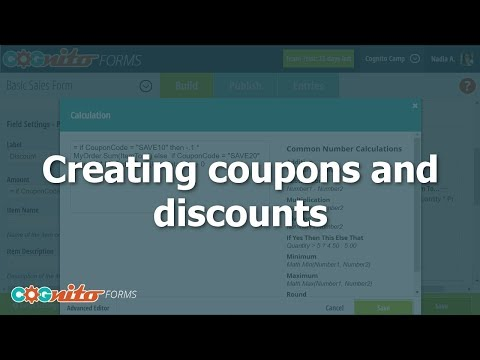 Creating Coupons And Discounts - Cognito Forms