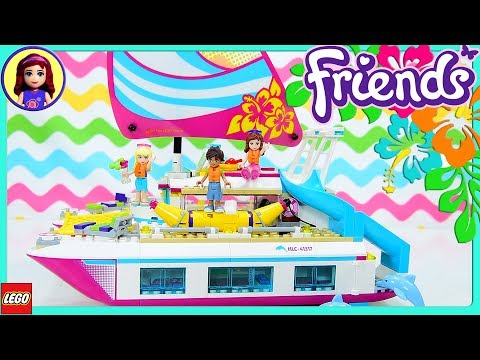 Lego Friends Sunshine Catamaran Build Part 1 Review Silly Pl