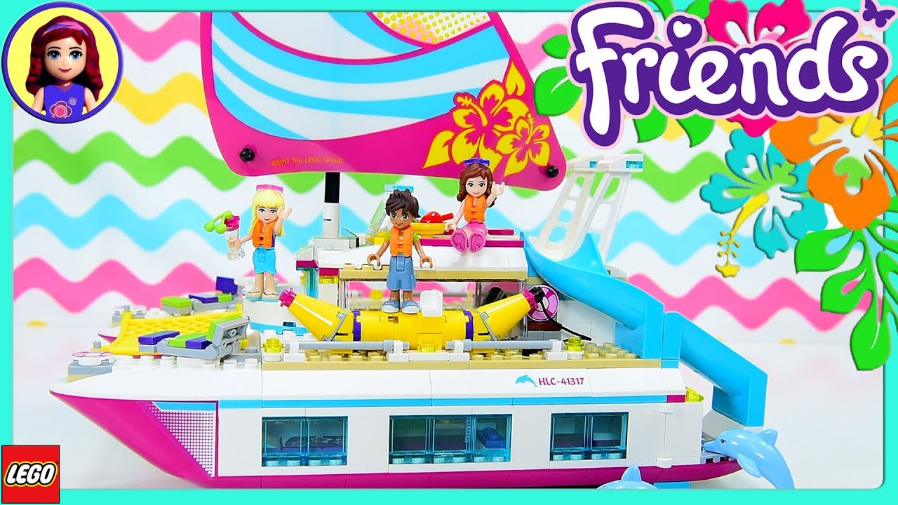 Lego Friends Sunshine Catamaran Build Part 1 Review Silly Play Kids