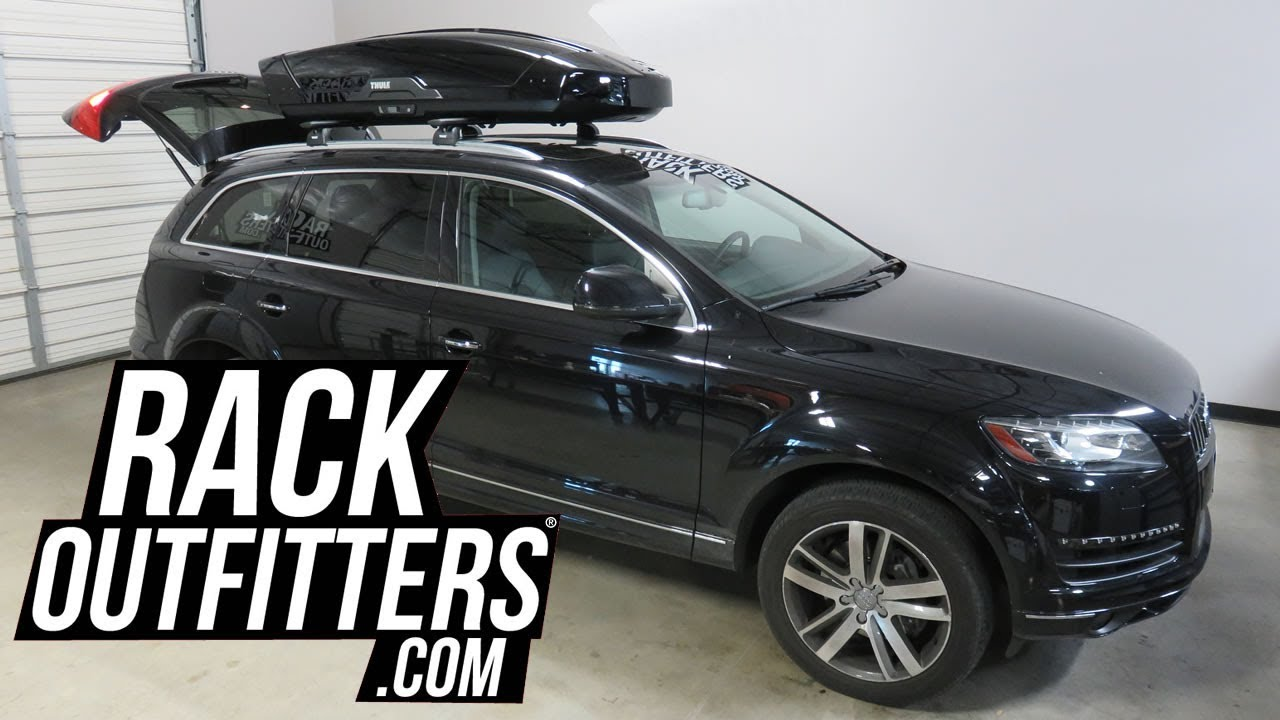 2007 to 2015 audi q7 with thule motion xt xl roof top luggage cargo box