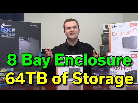 64TB of Storage - 8 Bay Enclosure + 8TB External HDD Shuckin