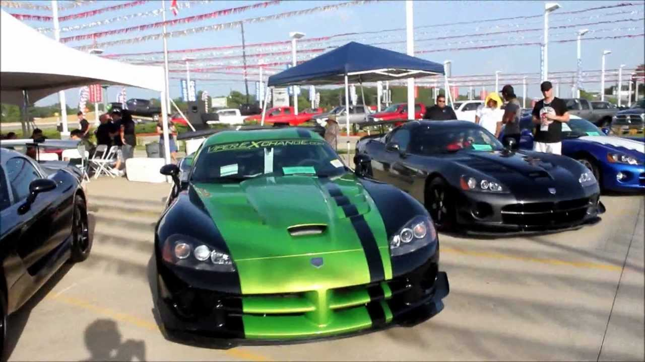 viper car show at tomball dodge viper exchange youtube