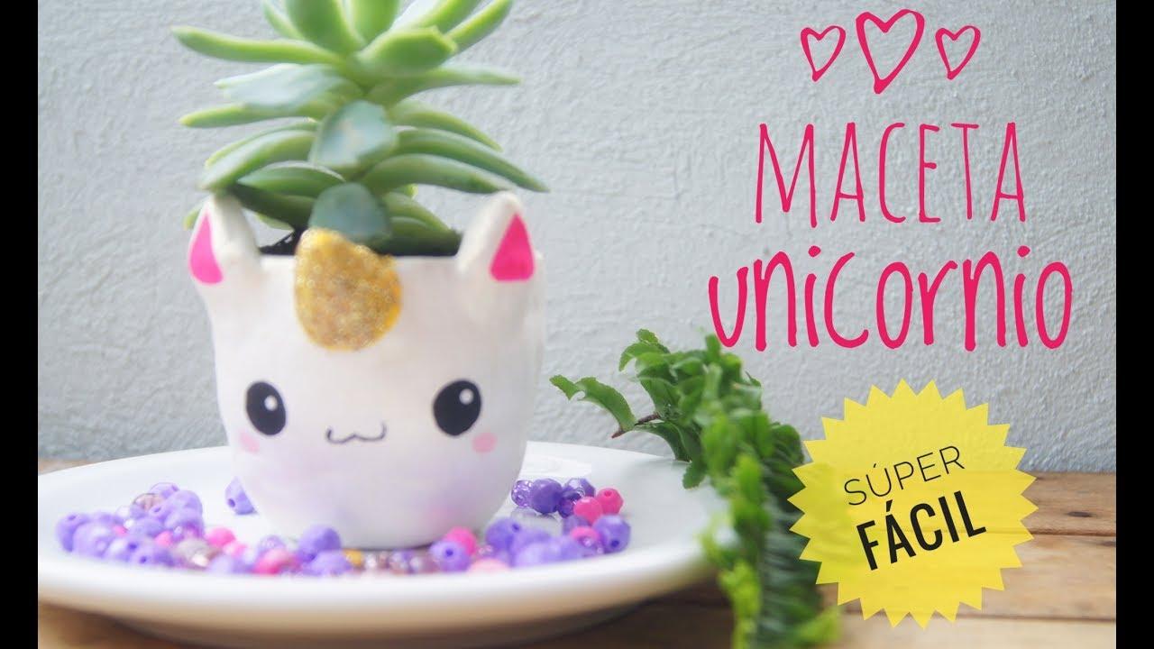 Maceta de unicormio pasta para modelar secado al aire pot of unicorn youtube - Bordillos de plastico para jardin ...