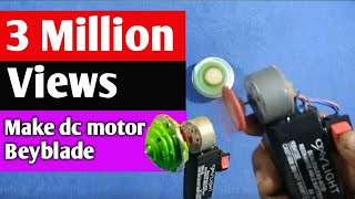 Awesome idea make a dc motor Beyblade