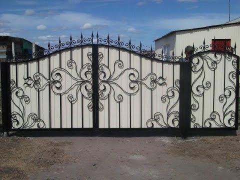 Красивые ворота заборы навесы