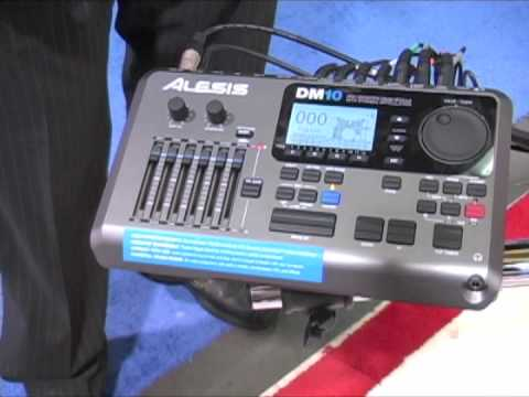alesis dm10 pro module winter namm 2010 demo youtube. Black Bedroom Furniture Sets. Home Design Ideas