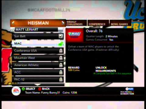 NCAA 14 Ultimate Team Jim Plunkett Collection!!!