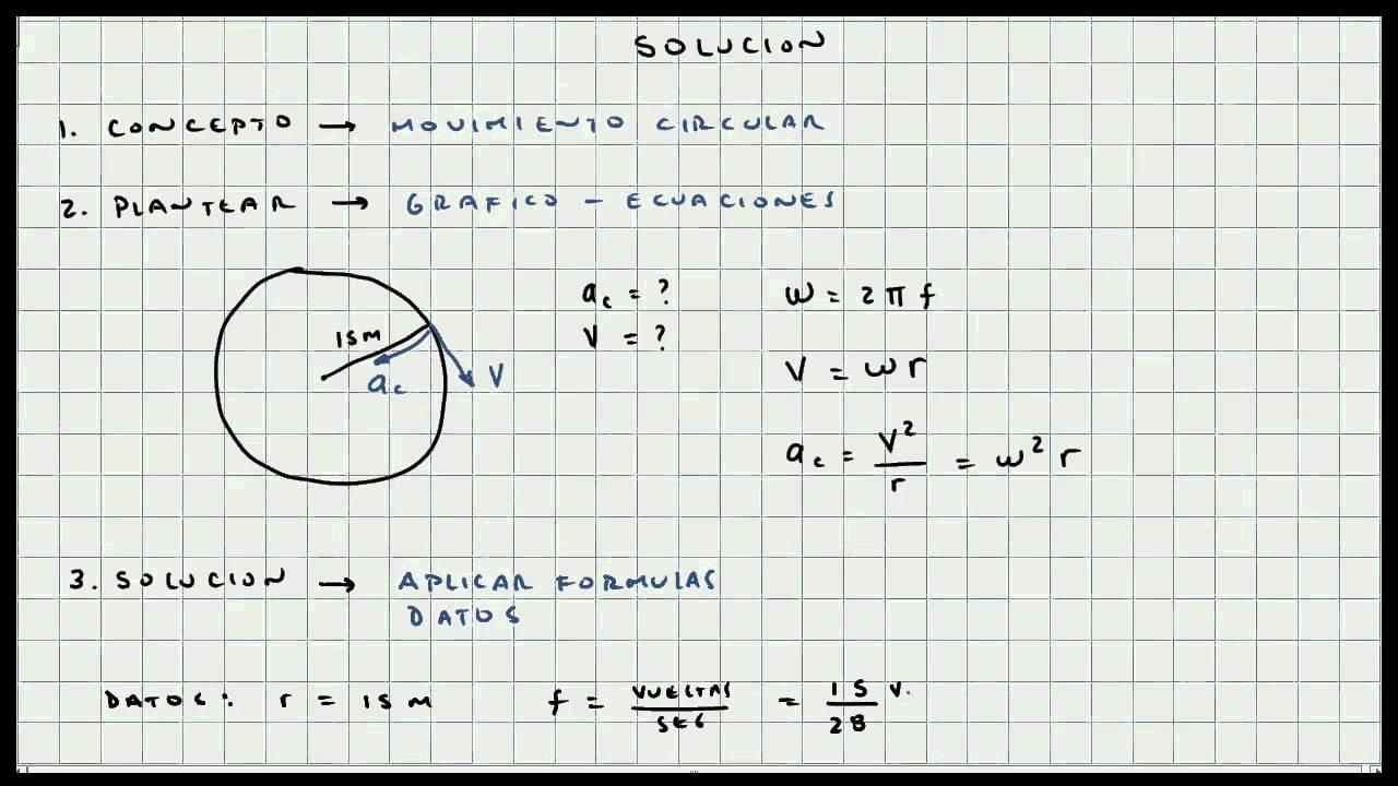 Ejercicio Movimiento Circular Cinematica Mi Profesor De Fisica