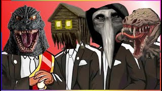 GODZILLA & HOUSE HEAD & SCP-049 & SCP-682 - Coffin Dance X Baby Shark COVER