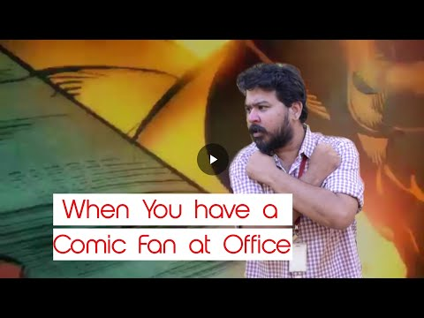 When You have a Superhero Fan at your Office l Mirchi Vaidhi