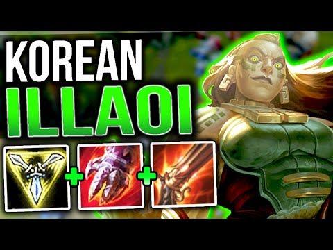 NEW KOREAN ILLAOI BUILD!! COMPLETELY BROKEN AUTO ATTACK RANGE COMBO!! |League Of Legends|